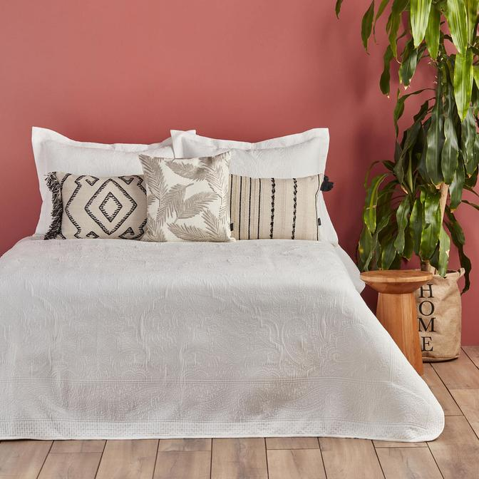 Lidia Çift Kişilik Yatak Örtüsü Seti Beyaz (250x260 cm)