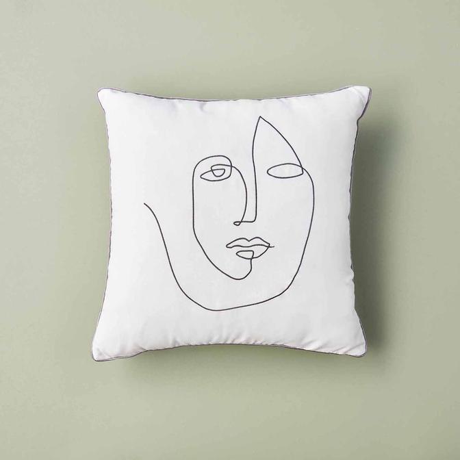 Face Kırlent Ekru (45x45 cm)