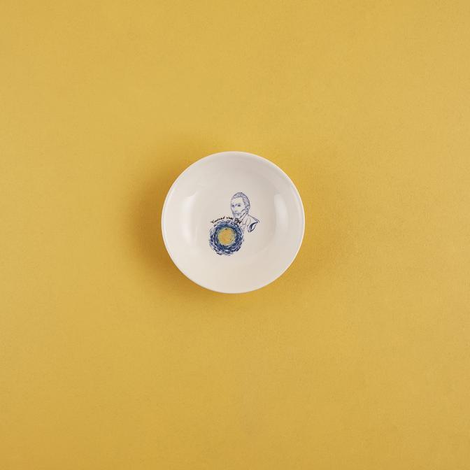 Van Gogh Stoneware Peynir Tabağı Mavi (13 cm)