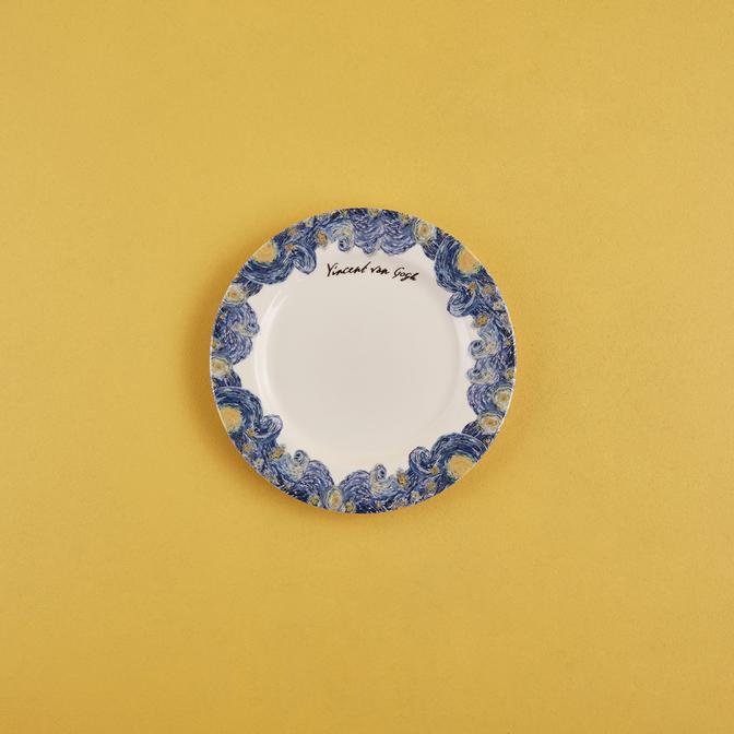 Van Gogh Stoneware Pasta Tabağı 6'lı Mavi (21 cm)
