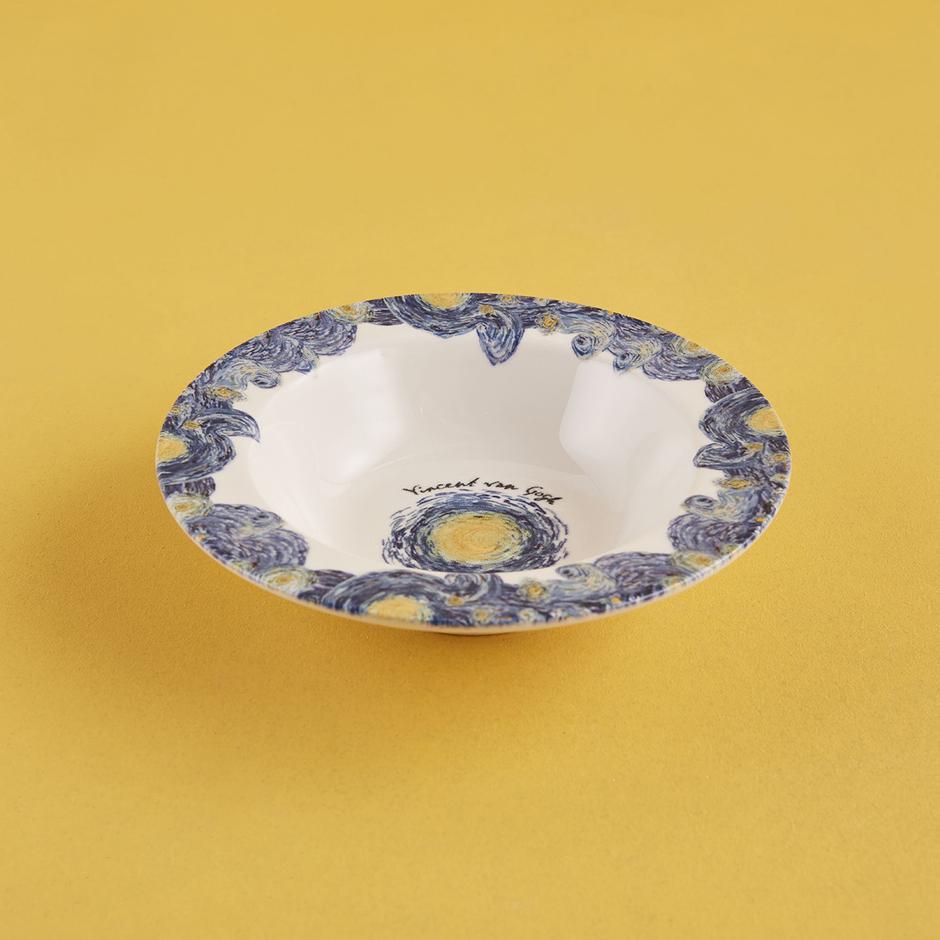 Van Gogh Stoneware Kase 6'lı Mavi (15 cm)