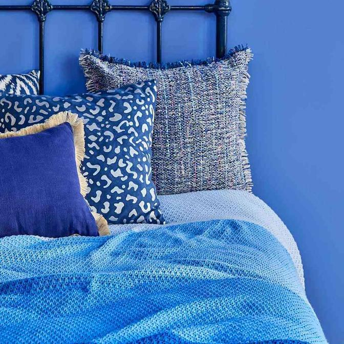 %100 Akrilik Romano Mavi Tek Kişilik Battaniye (160x220 cm)