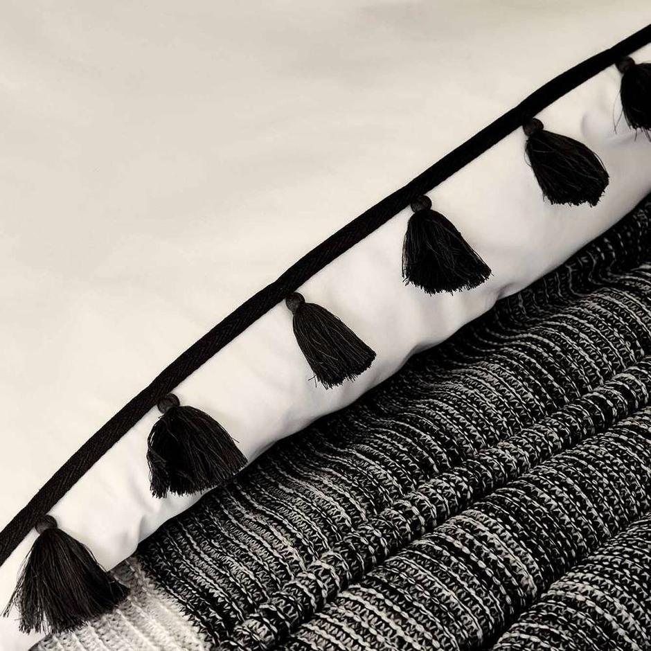 %100 Pamuk Ranforce Tanora Çift Kişilik Nevresim Seti Beyaz (200x220 cm)