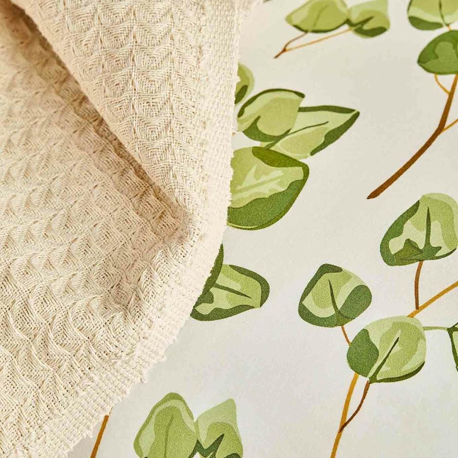 %100 Pamuk Ranforce Ocaliptus Çift Kişilik Nevresim Yeşil (200x220 cm)