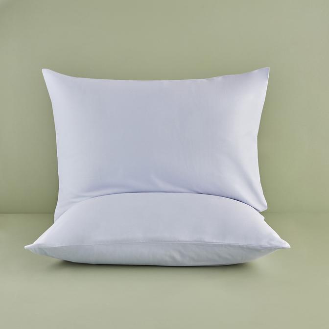 %100 Pamuk Saten Açık Mavi Yastık Kılıfı 50x70 cm (2 adet)