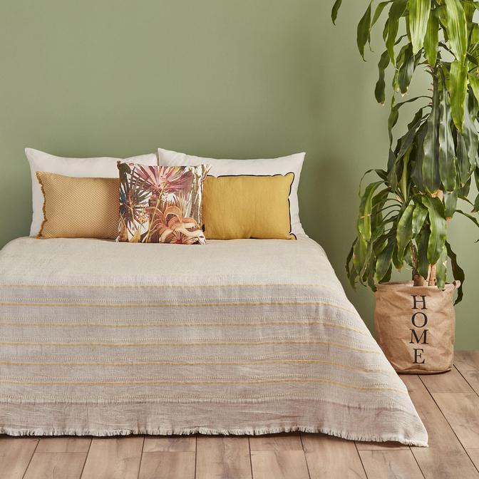 %100 PamukSteva Tek Kişilik Sarı Yatak Örtüsü (180x240 cm)