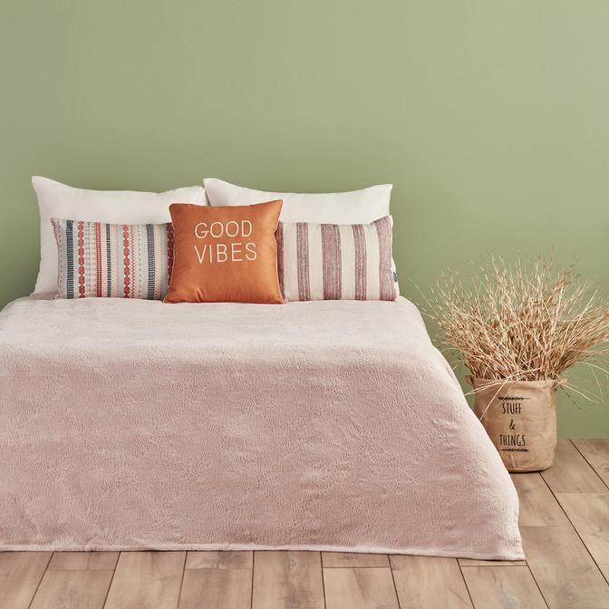 Nice Yatak Örtüsü Çift Kişilik Somon (220x225 cm)