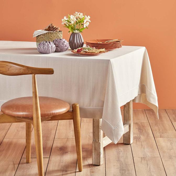 Basic Masa Örtüsü Taş (160x160 cm)