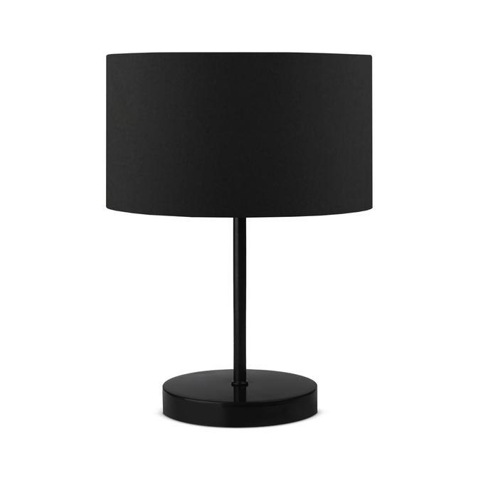 Siyah Kumaş Metal Gövdeli Abajur (15x24 cm)