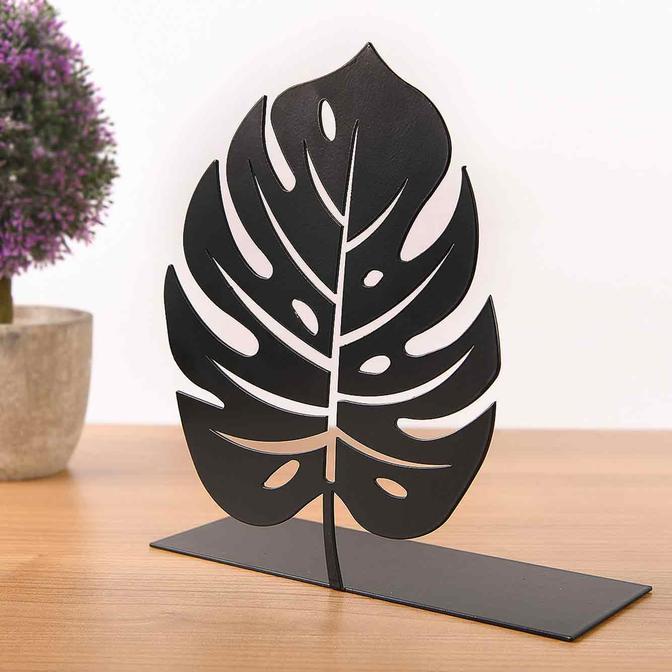 Metal Masa Üstü Biblo Numare Siyah (22x20 cm)