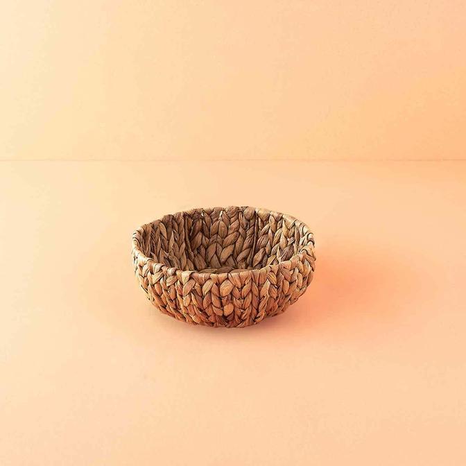 Granny Hasır Ekmek Sepeti Naturel (24x9 cm)