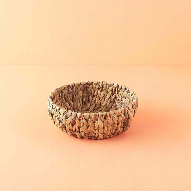 Granny Hasır Ekmek Sepeti Naturel (28x10 cm)