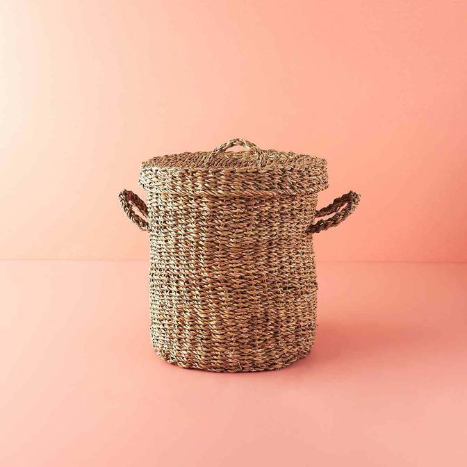 Handle Hasır Çamaşır Sepeti Naturel (35x38 cm)