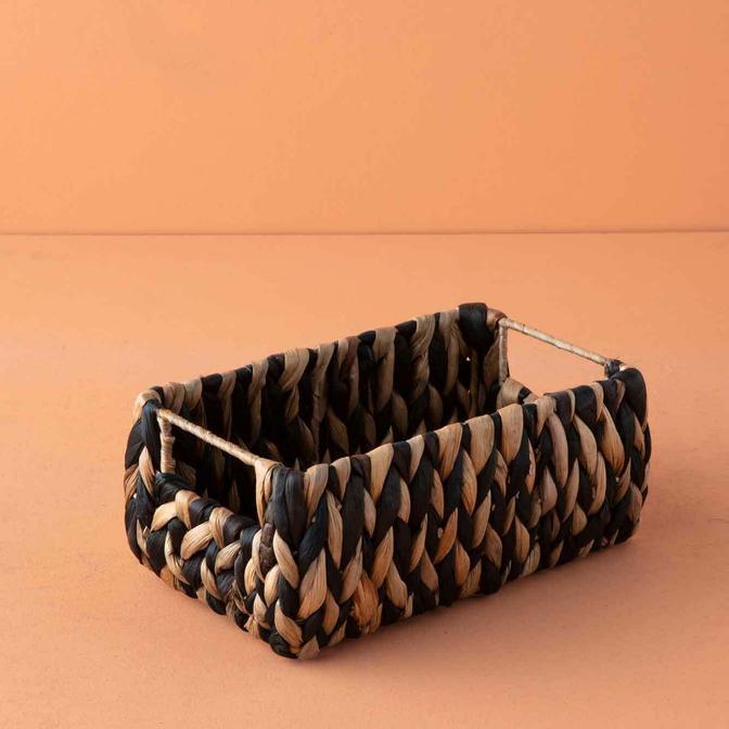Verte Dikdörtgen Sepet Siyah (24x14x10 cm)