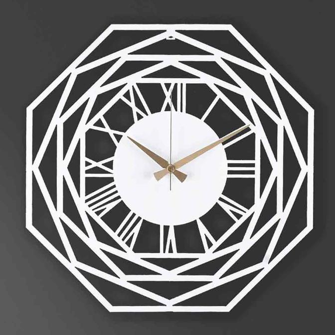 Repido Metal Duvar Saati Beyaz (41x41 cm)