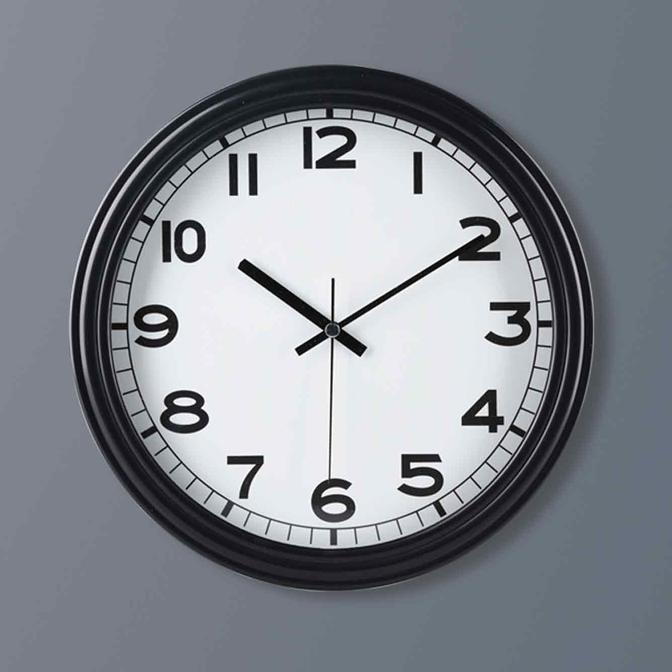 Eroe Duvar Saati Siyah (30x30 cm)