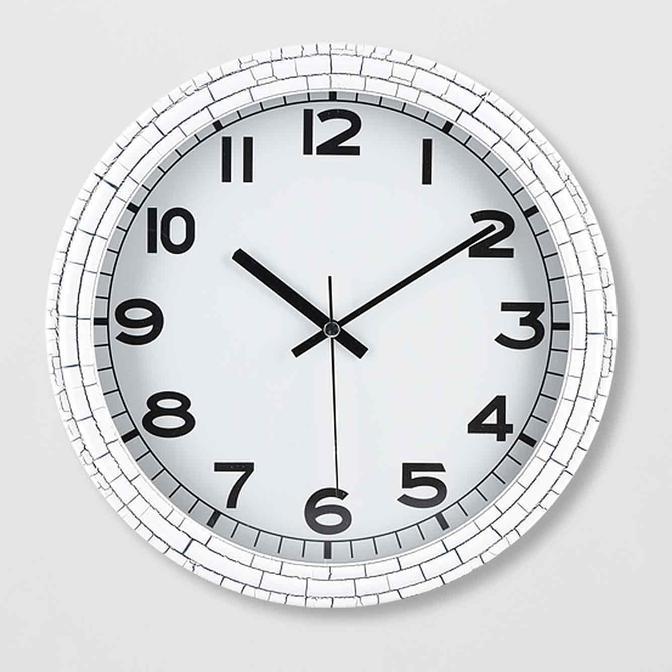 Eroe Duvar Saati Beyaz (30x30 cm)