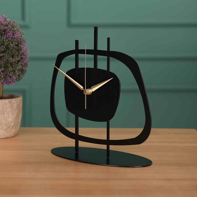 Pietra Metal Masa Saati Siyah (21x23 cm)