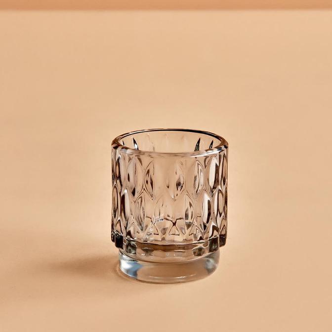 Drop Açık Gri Tealight Mumluk (7x8 cm)