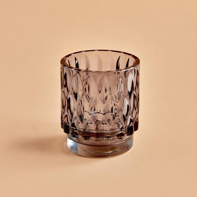 Drop Tealight Mumluk Koyu Gri (7x8 cm)