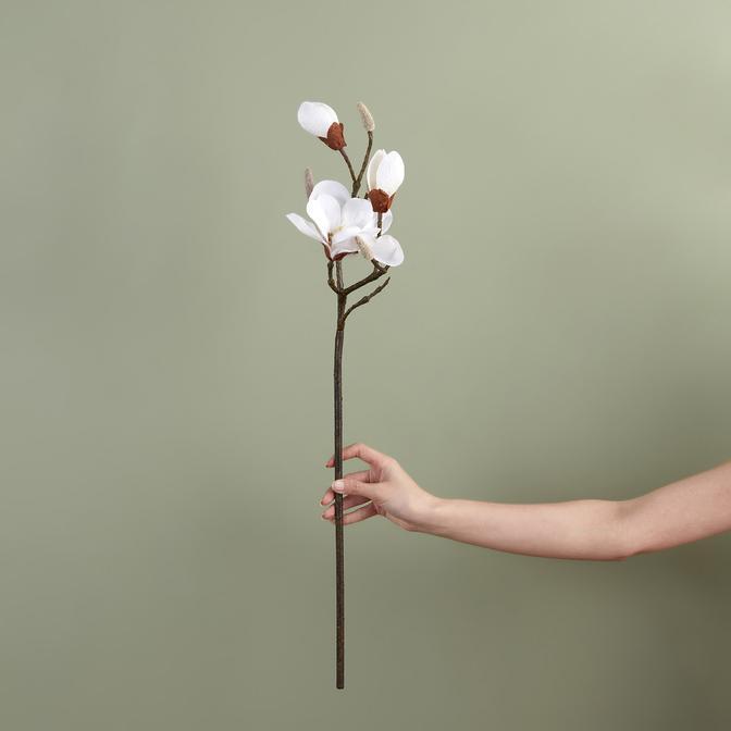 Manolya Beyaz Yapay Çiçek Beyaz (72 cm)