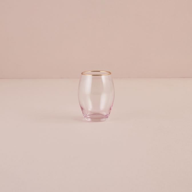 İtalya Meşrubat Bardağı Pembe (390 cc)