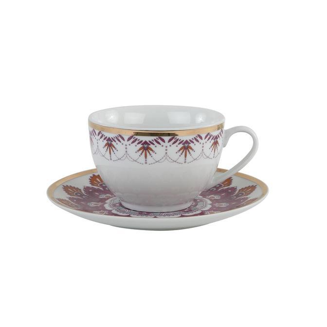 Gypsy Porselen Çay Fincan Seti Pembe (2'li)