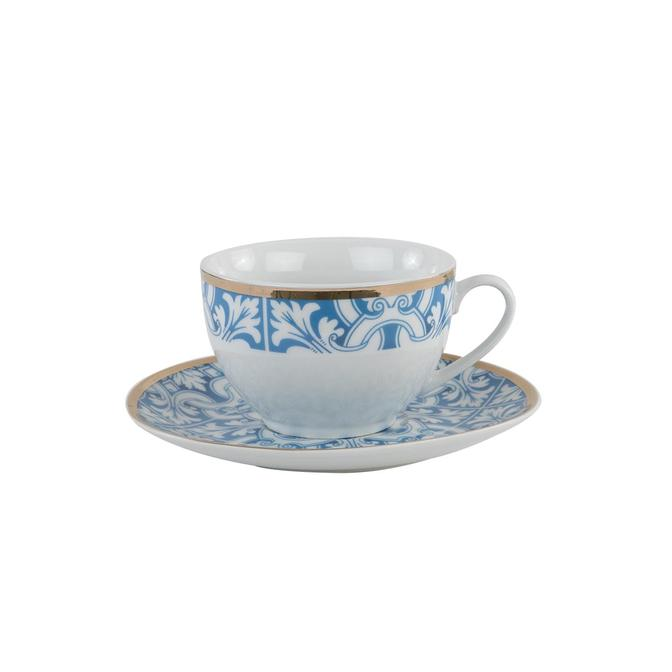 Azul Porselen Çay Fincan Seti Mavi (2'li)