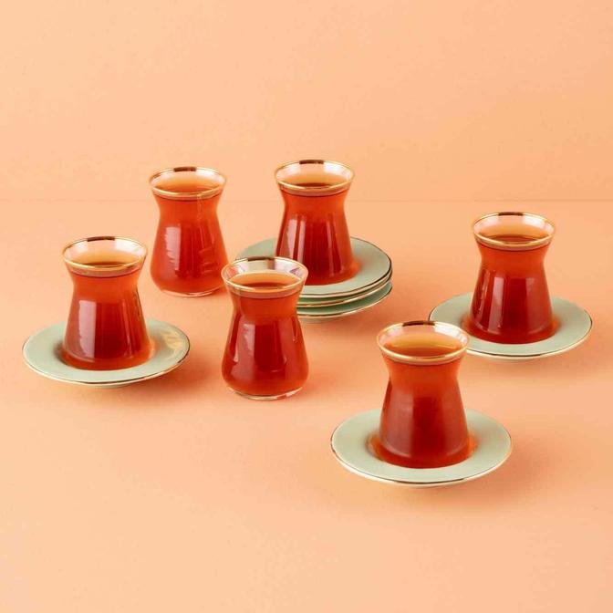 Allure Çay Bardağı Seti 6'lı Açık Yeşil