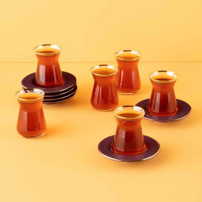 Allure Çay Bardağı Seti 6'lı Gül Kurusu