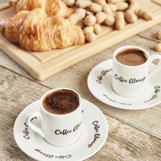 Always Porselen  Kahve Fincan Seti 2 Kişilik 4 Parça