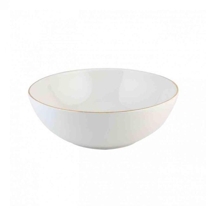 Allure Seramik Salata Kasesi Beyaz (25 cm)