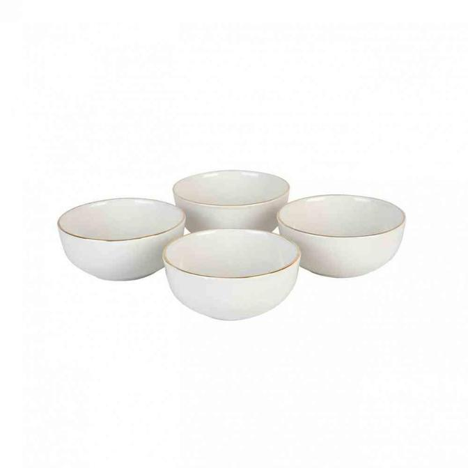 Allure Seramik Çerezlik 4'lü Beyaz (10,5 cm)