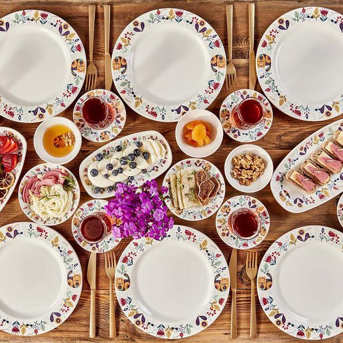 Farlen 26 Parça 6 Kişilik Kahvaltı Takımı Mix
