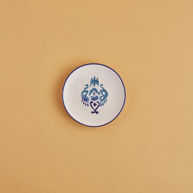 Ikat Seramik Tatlı Tabağı (16 cm)