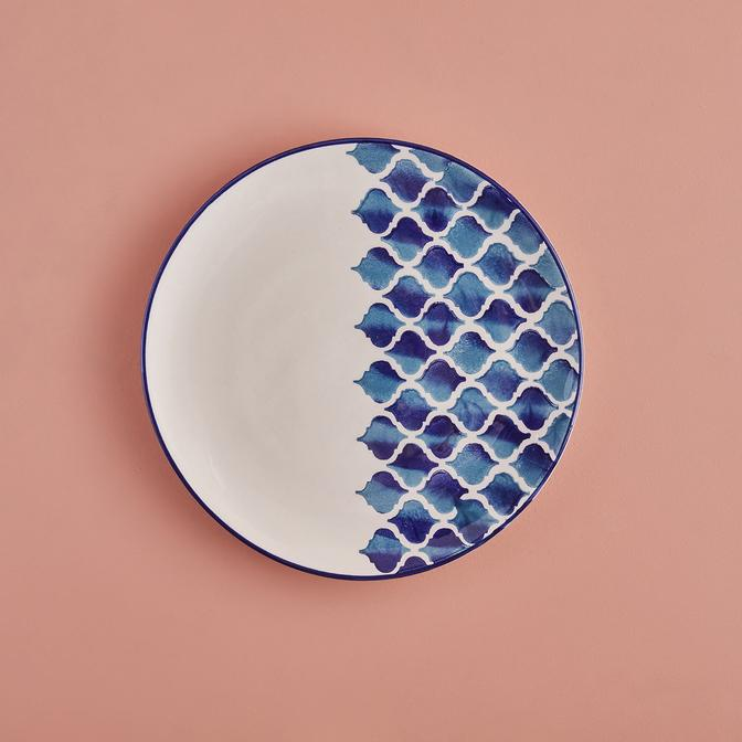 Blue Tile Seramik Servis Tabağı (26 cm)