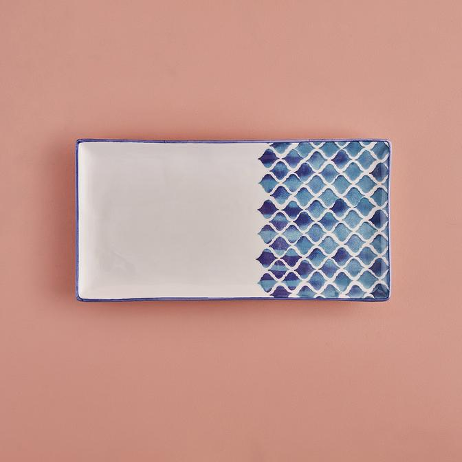 Blue Tile Seramik Sunum Tabağı (29 x 15 cm)