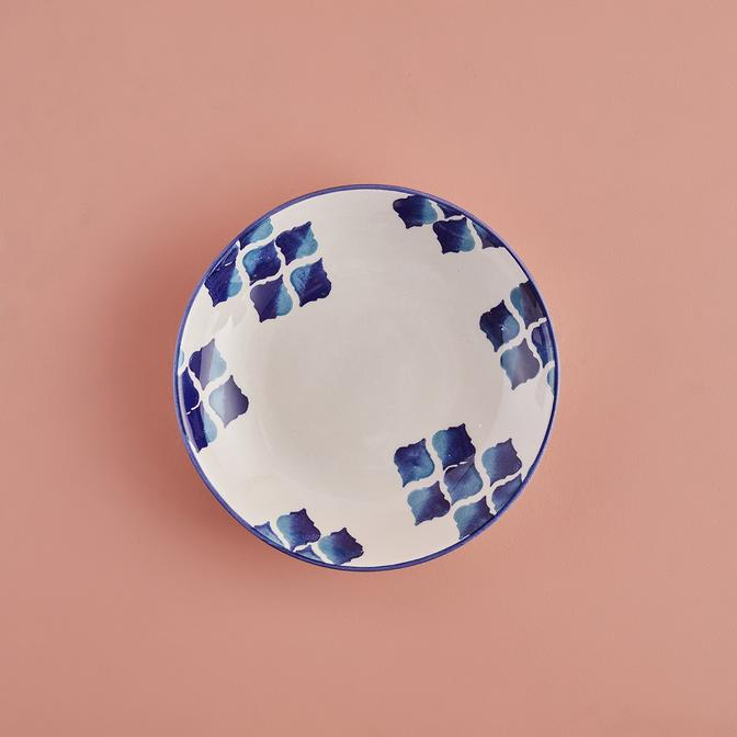 Blue Tile Seramik Yemek Tabağı (23 cm)