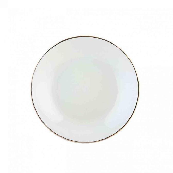 Allure Seramik Yemek Tabağı Beyaz (21 cm)