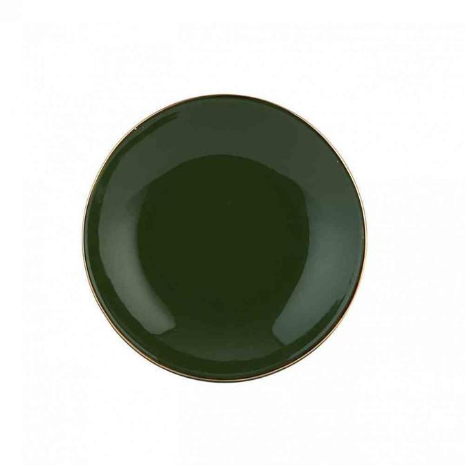 Allure Seramik Yemek Tabağı Haki (21 cm)