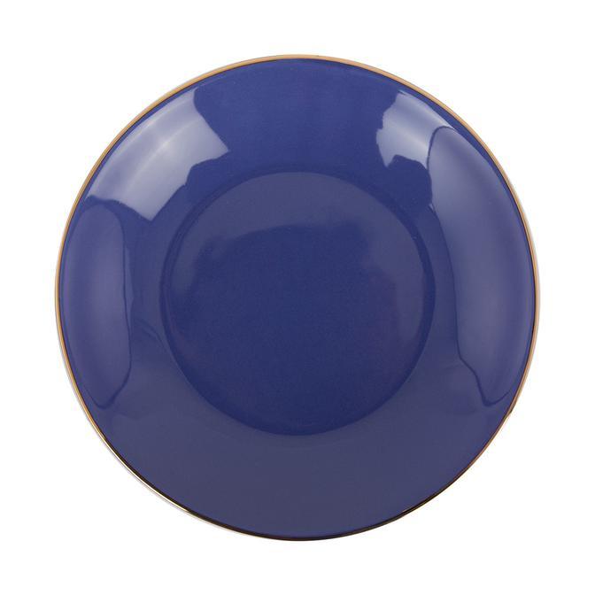 Allure Seramik Yemek Tabağı Mavi (21 cm)