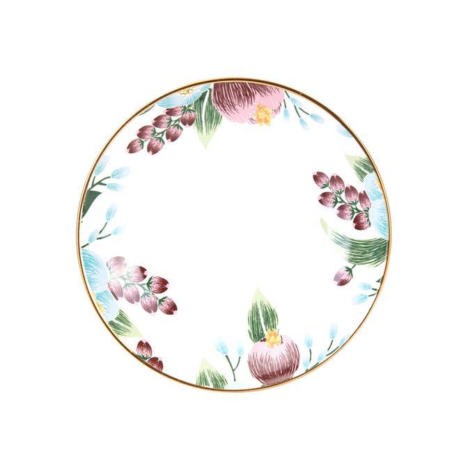 Violeta Seramik Yemek Tabağı (21 cm)