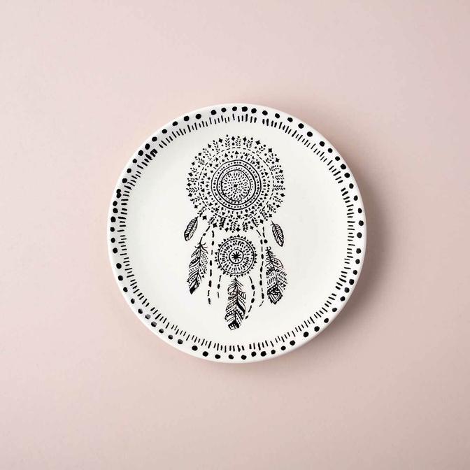 Dream Seramik Pasta Tabağı Beyaz(21 cm)
