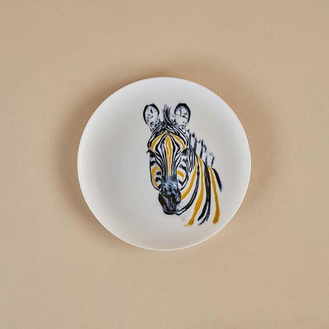 Safari Zebra Porselen Servis Tabağı (26 cm)