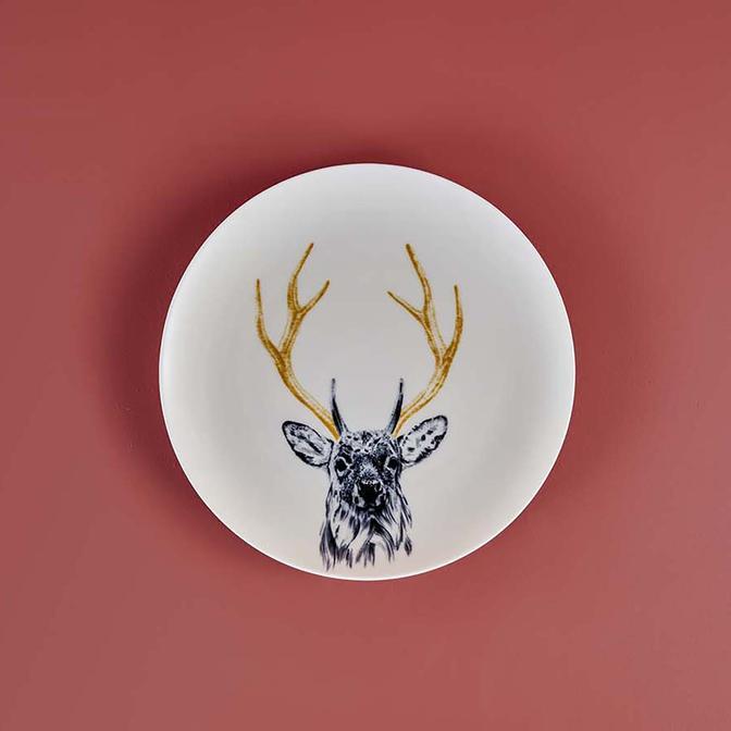 Safari Deer Porselen Servis Tabağı (26 cm)