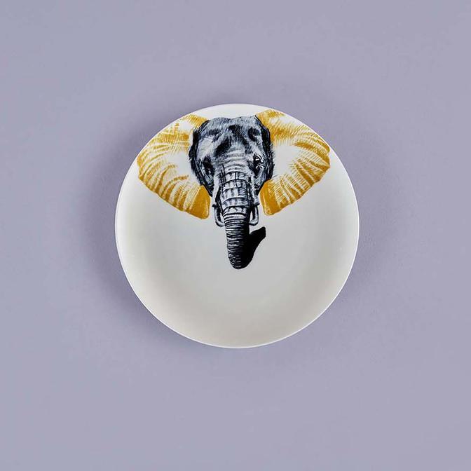Safari Elephant Porselen Servis Tabağı (26 cm)