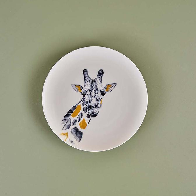 Safari Giraffe Porselen Servis Tabağı (26 cm)