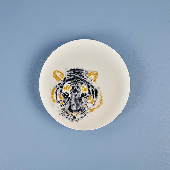 Safari Tiger Porselen Servis Tabağı (26 cm)