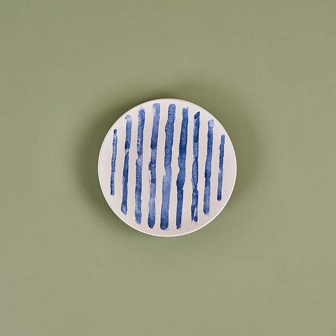 Brush Blue Pasta Tabağı