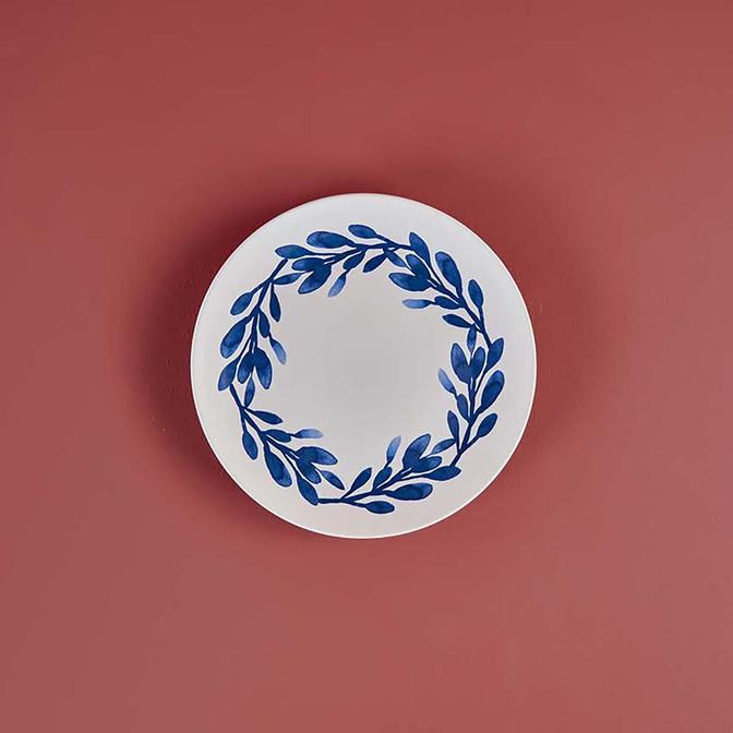 Crown Blue  Pasta Tabağı 6'lı